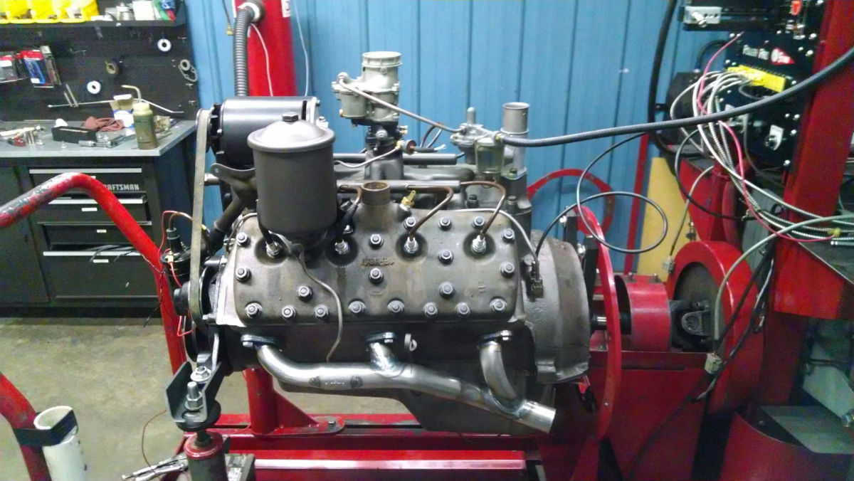 Flathead Ford Engine on Dyno